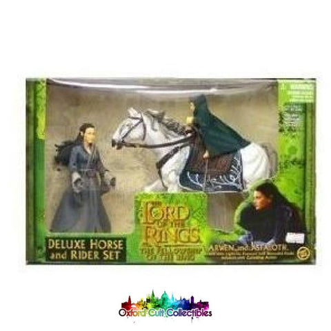 Lord Of The Rings Arwen And Asfaloth With Wounded Frodo Deluxe Action Figure Set