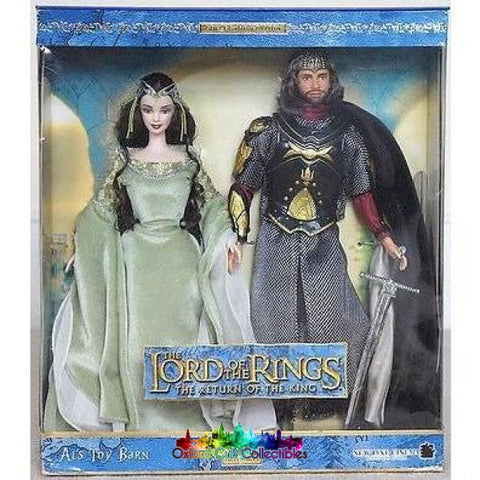 Lord Of The Rings Barbie King Elessar And Arwen Collectible Doll Set