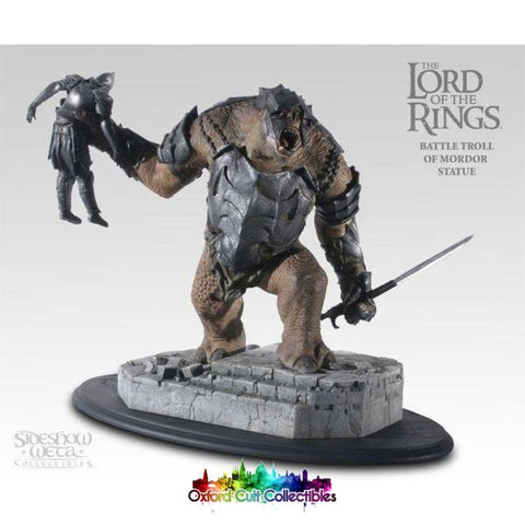 Lord Of The Rings Battle Troll Mordor Polystone Statue (Sideshow Weta)