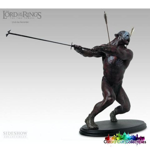Lord Of The Rings Berserker Uruk Hai Polystone Statue Number 666 (Sideshow Weta)