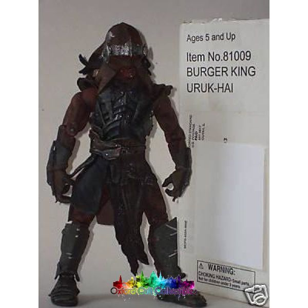 Lord Of The Rings Burger King Uruk Hai Exclusive Mail Away Action Figure