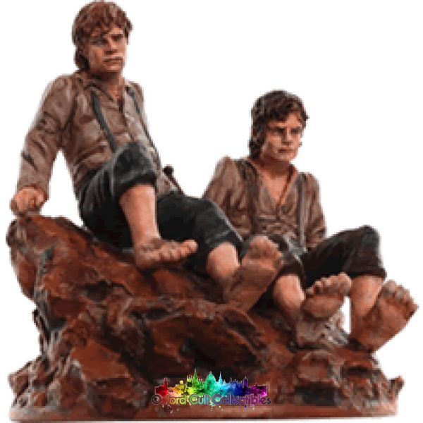 Lord Of The Rings Collectors Model Frodo And Sam At Mount Doom 164 Hand Painted Figurine Hand