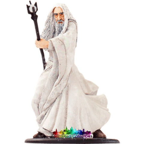 Lord Of The Rings Collectors Model Number 15: Saruman Battles At Orthanc Hand Painted Figurine Hand