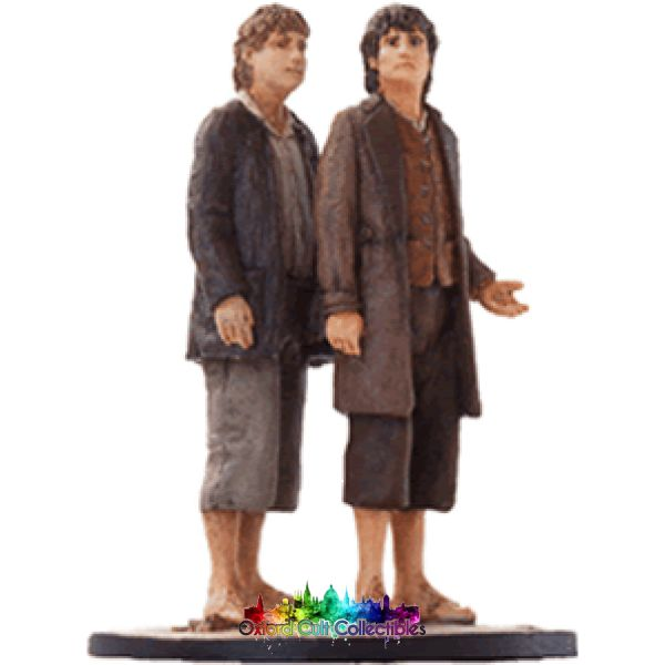 Lord Of The Rings Collectors Model Number 20: Sam And Frodo At Rivendell Hand Painted Figurine Hand