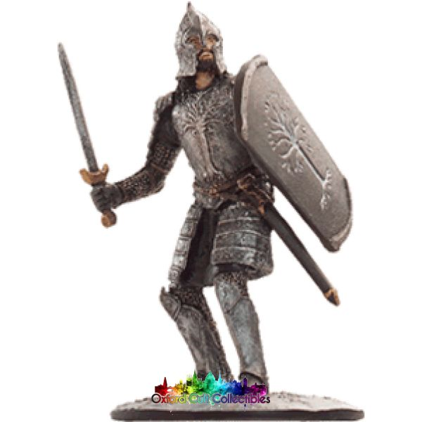 Lord Of The Rings Collectors Model Number 40: Gondorian Warrior At Minas Tirith Hand Painted Figurine Hand