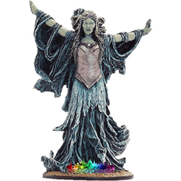 Lord Of The Rings Collectors Model Number 52: Galadriel Possessed At Cara Galadhorn Hand Painted Figurine Hand