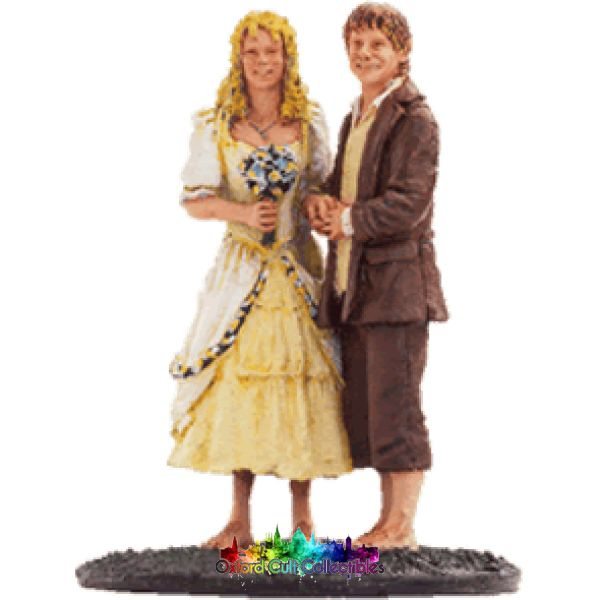 Lord Of The Rings Collectors Model Number 54: Sam And Rosie At Hobbiton Hand Painted Figurine Hand