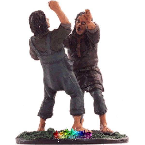 Lord Of The Rings Collectors Model Number 57: Smeagol And Deagol At Gladden Fields Hand Painted Figurine Hand