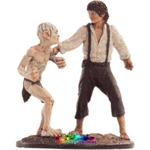Lord Of The Rings Collectors Model Number 60: Frodo And Gollum At Mount Doom Hand Painted Figurine Hand