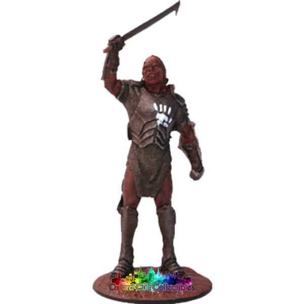 Lord Of The Rings Collectors Model Number 69: Uruk Hai General At Helms Deep Hand Painted Figurine Hand
