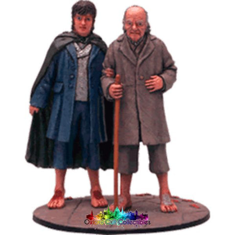 Lord Of The Rings Collectors Model Number 82: Frodo & Bilbo At Grey Havens Hand Painted Figurine Hand