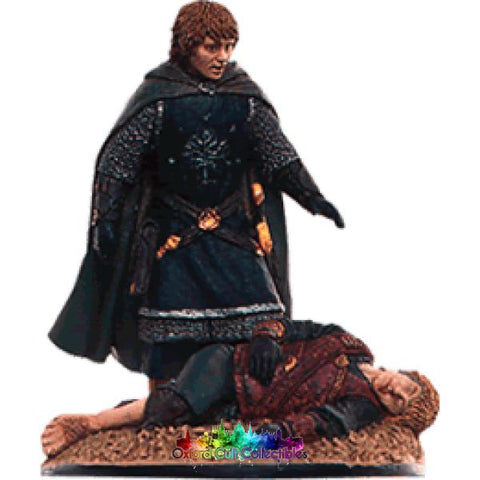 Lord Of The Rings Collectors Model Number 94: Merry And Pippin At Pelennor Fields Hand Painted Figurine Hand