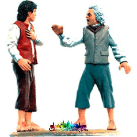 Lord Of The Rings Collectors Models Bilbo (Possessed) And Frodo At Rivendell 127 Hand Painted Figurine Hand