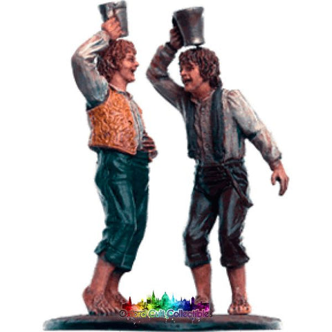 Lord Of The Rings Collectors Models Merry And Pippin At Edoras 148 Hand Painted Figurine Hand