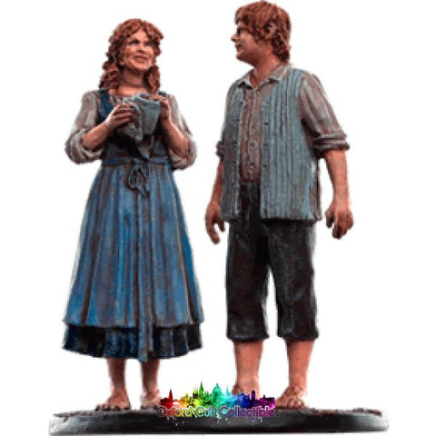 Lord Of The Rings Collectors Models Sam And Rosie At Hobbiton 151 Hand Painted Figurine Hand
