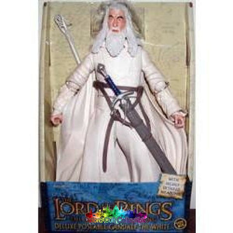 Lord Of The Rings Deluxe Poseable Rotocast Gandalf White Figure  sc 1 st  Oxford Cult Collectibles & Lord of the Rings deluxe poseable rotocast u0027Gandalf the White ...