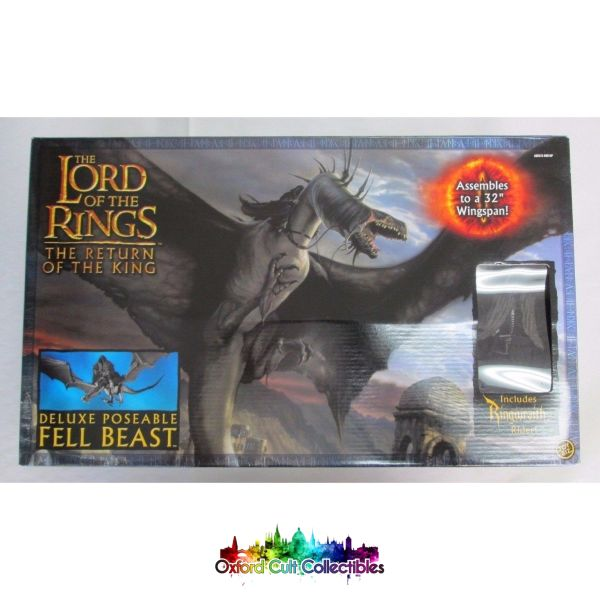 Lord Of The Rings Fell Beast With Nazgul Rider Deluxe Poseable Action Figure *imperfect*