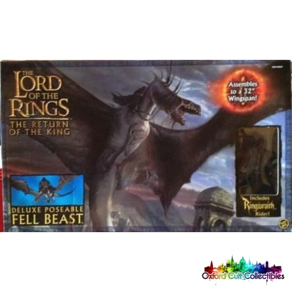 Lord Of The Rings Fell Beast With Nazgul Rider Deluxe Poseable Action Figure