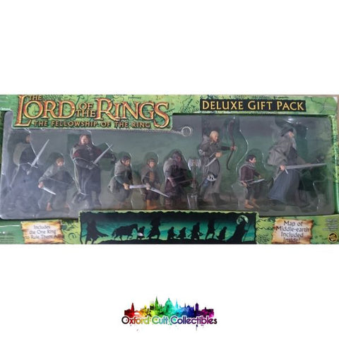 Lord Of The Rings Fellowship Ring 9 With Cloth Capes Action Figure Set