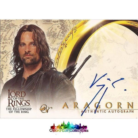 Lord Of The Rings The Fellowship Ring Aragorn Authentic Autograph Card