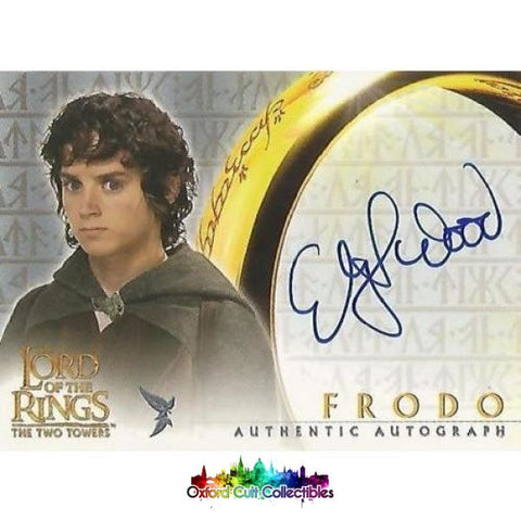 Lord Of The Rings The Fellowship Ring Frodo Authentic Autograph Card