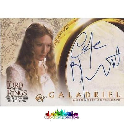 Lord Of The Rings The Fellowship Ring Galadriel Authentic Autograph Card