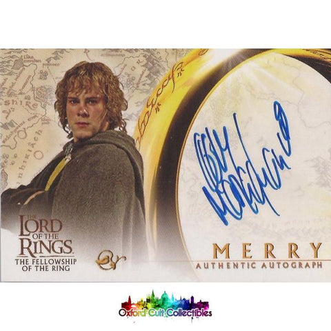 Lord Of The Rings The Fellowship Ring Merry Authentic Autograph Card