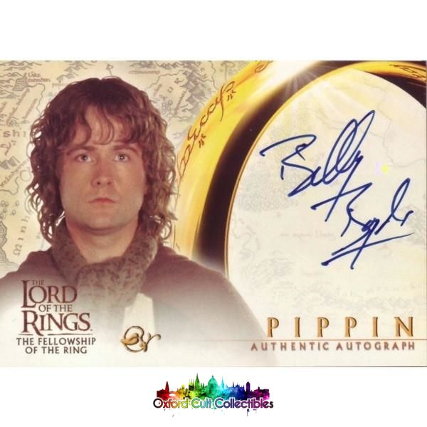 Lord Of The Rings The Fellowship Ring Pippin Authentic Autograph Card