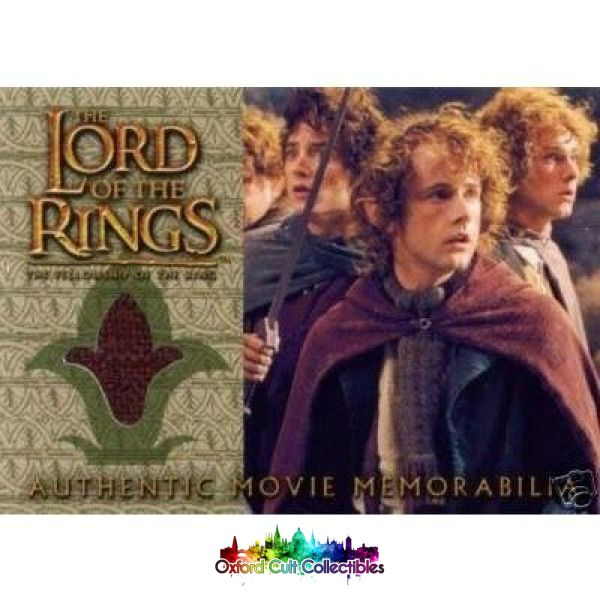 Lord Of The Rings The Fellowship Ring Pippins Travel Coat Authentic Costume Card