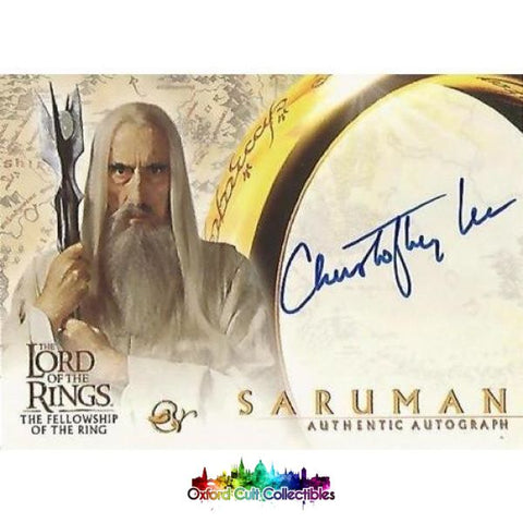 Lord Of The Rings The Fellowship Ring Saruman Authentic Autograph Card