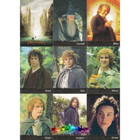 Lord Of The Rings The Fellowship Ring Trading Card Set