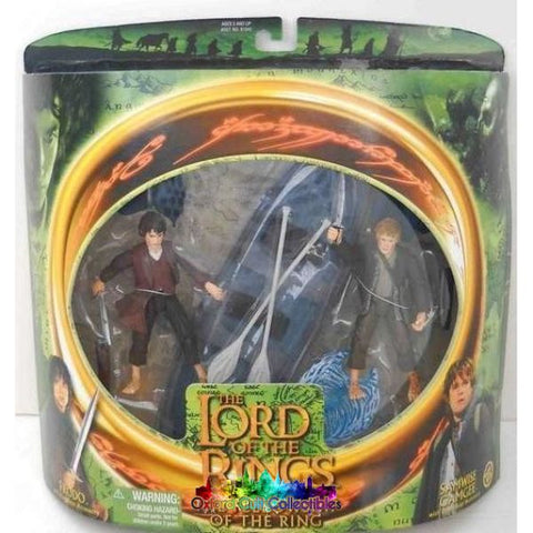 Lord Of The Rings Frodo & Sam In Elven Boat Action Figure Set