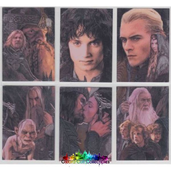 Lord Of The Rings Masterpieces 2: 6 Card Etched-Foil Set