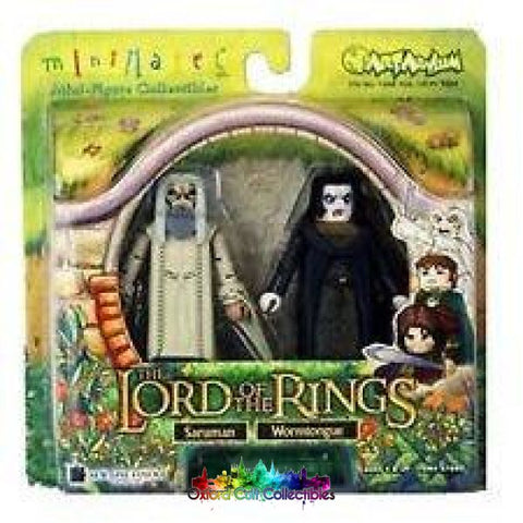 Lord Of The Rings Minimates Saruman & Wormtongue Figure Set