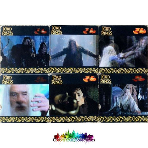 Lord Of The Rings Nestle Promotional Lenticular Sticker Card Set