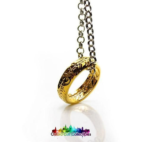 Lord Of The Rings The One Ring On Chain Necklace