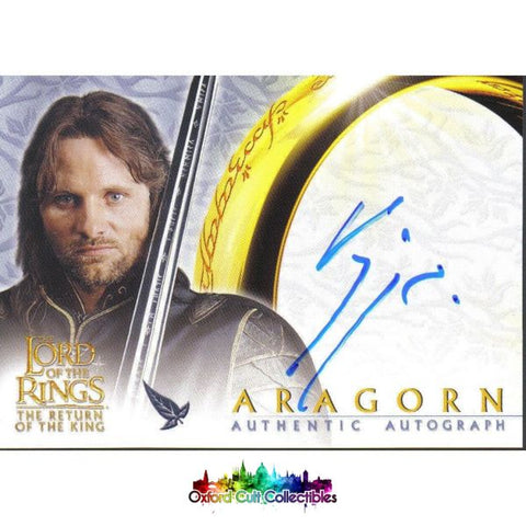 Lord Of The Rings Return King Aragorn Authentic Autograph Card