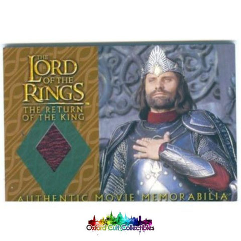 Lord Of The Rings The Return King Aragorns Coronation Shirt Authentic Costume Card