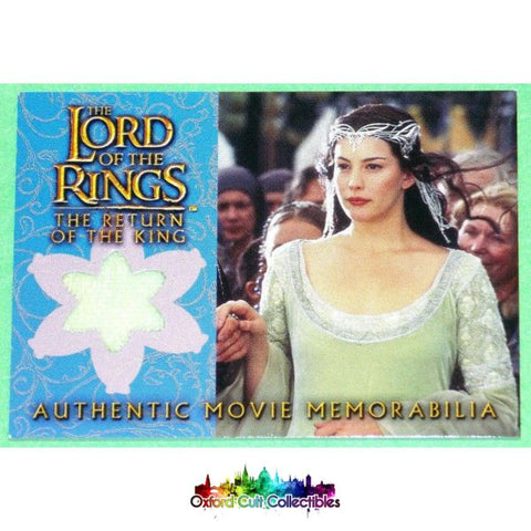 Lord Of The Rings The Return King Arwens Coronation Dress Authentic Costume Card