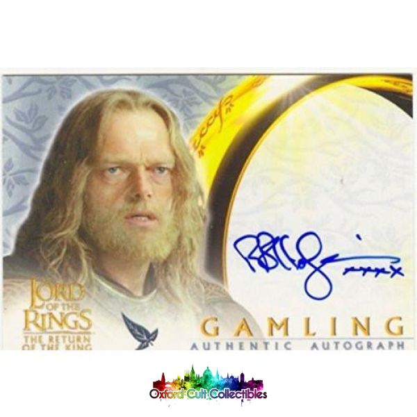 Lord Of The Rings The Return King Gamling Authentic Autograph Card