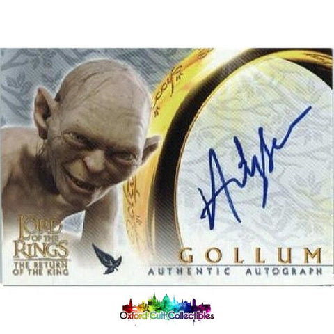 Lord Of The Rings The Return King Gollum Authentic Autograph Card