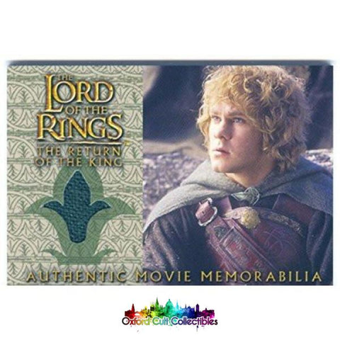 Lord Of The Rings The Return King Merrys Rohan Cloak Authentic Costume Card