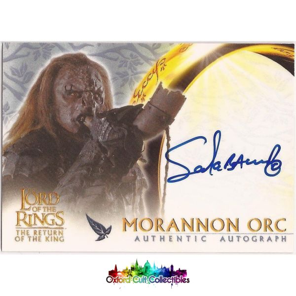 Lord Of The Rings The Return King Morannon Orc Authentic Autograph Card