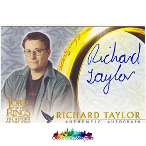 Lord Of The Rings The Return King Richard Taylor Authentic Autograph Card