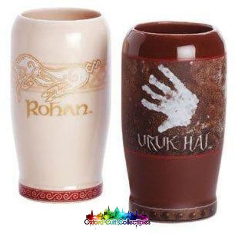 Lord Of The Rings The Riders Rohan & Fighting Uruk Hai Pint Set