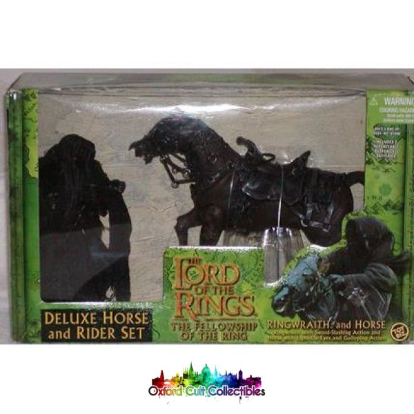 Lord Of The Rings Ringwraith And Horse Deluxe Action Figure Set