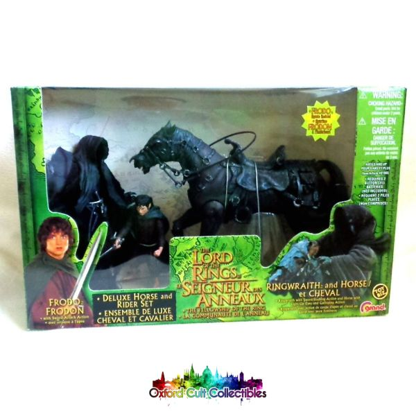 Lord Of The Rings Ringwraith With Horse And Frodo Exclusive Deluxe Action Figure Set