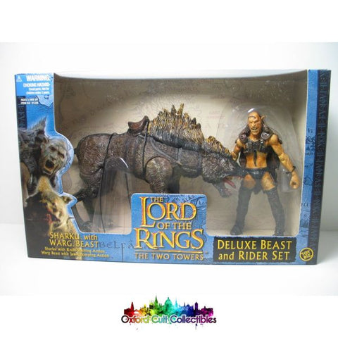 Lord Of The Rings Sharku With Warg Beast Deluxe Action Figure Set
