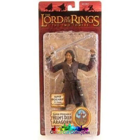 Lord Of The Rings Super Poseable Helms Deep Aragorn Trilogy Action Figure