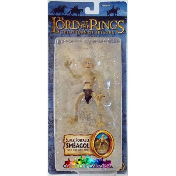 Lord Of The Rings Super Poseable Smeagol With One Ring Trilogy Action Figure